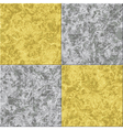 abstract gray yellow marble seamless texture tiled vector image vector image