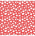 Abstract Hearts Seamless Pattern Doodle Texture vector image vector image