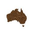 australia - map of coffee bean vector image vector image