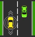 autonomous car top view background digital vector image vector image