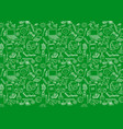 back to school seamless pattern on green vector image vector image