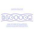 blossom font alphabet vector image vector image