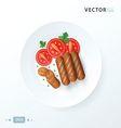 breakfast Hot dog grill vector image