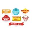 Breaking news Labels set vector image
