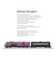 brochure locomotive with tank on railway platform vector image vector image