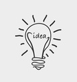 bulb idea design vector image vector image