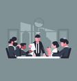 business meeting in office vector image vector image