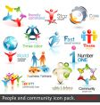 business people community vector image