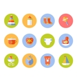 card with colorful baby icons vector image vector image