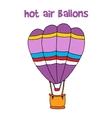 Cartoon of hot air balloon vector image