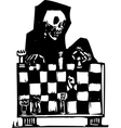 Chess and Death vector image vector image