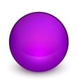 Color matte light sphere button vector image
