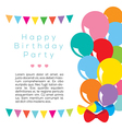 Colorful Balloons Frame Template vector image