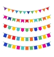 Colorful pennant bunting collection vector image