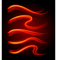 Curly light streaks vector image