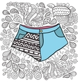 Cute cartoon doodle hipster shorts vector image