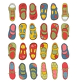 Cute girls shoes collection vector image