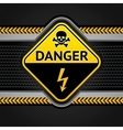 danger electricity background vector image vector image