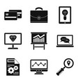 debt icons set simple style vector image vector image