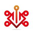design element number 9 6 icon symbol vector image
