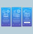 digital platform onboarding mobile app page vector image vector image