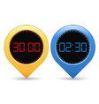 Digital Timers vector image vector image