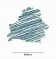 Doodle sketch of Belarus map