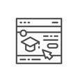education website web page line icon vector image vector image