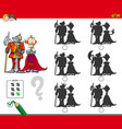 educational shadow game with king and knight vector image vector image