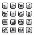 environment and recycling icons vector image