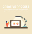 Flat design concept for creative process fo vector image