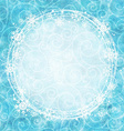 frame snowflakes on a watercolor background vector image vector image