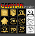 german set of number 70 templates vector image