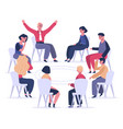 group therapy psychotherapist sessions vector image