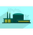 industrial power plant in flat vector image
