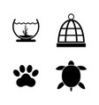 keeping pets simple related icons vector image