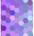 Light purple hexagon mosaic background design vector image vector image