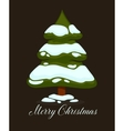 Merry Christmas greeting card Winter holiday vector image