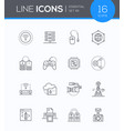 modern technology - line design style icons vector image