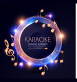 music event shining banner with golden notes and vector image vector image