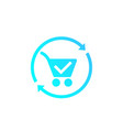 order processing icon vector image vector image