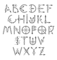 original unique creative hipster black alphabet vector image