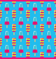 pattern fruit and milk ice cream on stick on blue vector image vector image