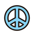 peace icon isolated on white background from vector image