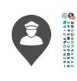 policeman map marker icon with free bonus vector image vector image