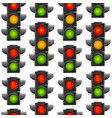 realistic detailed 3d road traffic light seamless vector image vector image