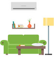 room home interior with sofa furniture vector image vector image
