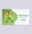 running young man online vector image
