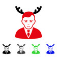 sad horned husband icon vector image vector image