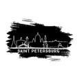 saint petersburg skyline silhouette hand drawn vector image